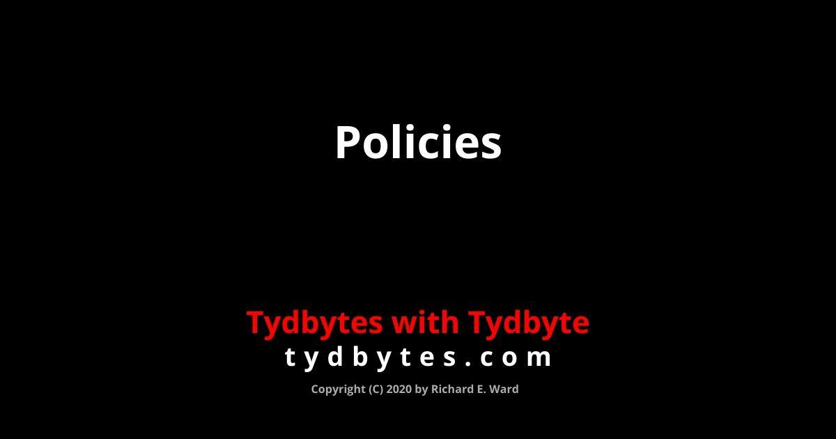 Policies @ tydbytes.com