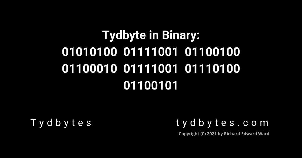 Tydbyte in Binary Code