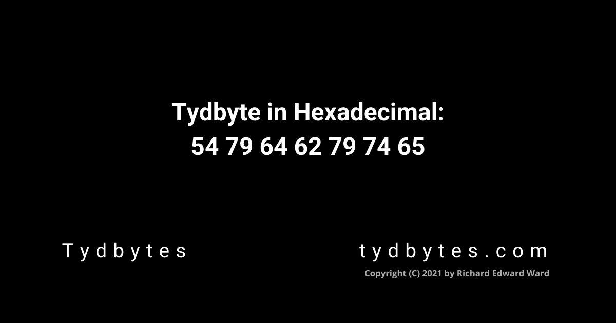 Tydbyte in Hexadecimal Code